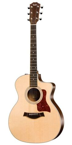 Acoustic-Electric Guitar from Taylor The makes a nice addition to the 200 series, focused on balanced tone and the fundamentals of a great guitar playing experience. A Taylor Grand Auditor Guitar Shop, Music Guitar, Cool Guitar, Playing Guitar, Ukulele, Gibson Guitars, Fender Guitars, Guitar Tips, Guitar Lessons