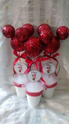 Centros De Mesa Souvenirs Topiarios Arbolitos Mickey Minnie - $ 40,00 en MercadoLibre