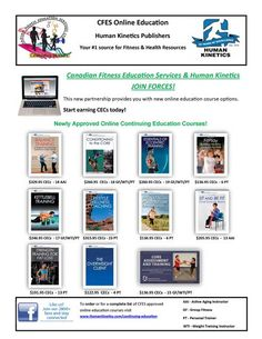 Canadian Fitness Education Services Fitness Instructor and Personal Trainer certification renewal continuing education credits available with Human Kinetics