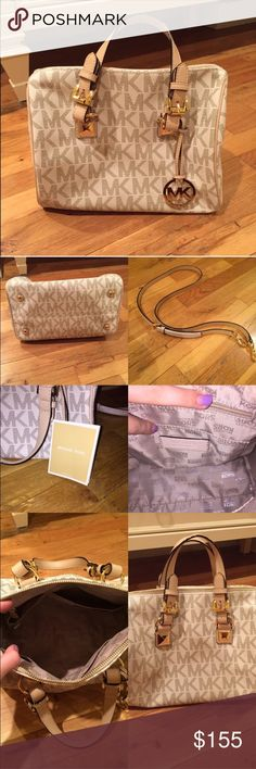Michael Kors handbag Brand new condition, used for exactly 2 days. No damage, marks, tears.. Beautiful condition. Comes with long strap (still has partial wrapping on it). Beautiful bag❤️ Michael Kors Bags