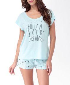 Dreamy Dandelions PJ Set | FOREVER21 - 2019571264