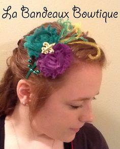 Mardi Gras Headband with Fleur de Lis Center by LaBandeauxBowtique, $8.00