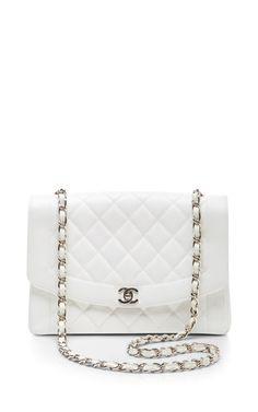 Chanel White Caviar Classic Flap Jumbo