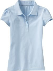 French Blue Polo  Old Navy  Girls Pique Uniform Polos