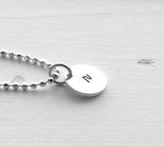 Small r Necklace Initial Necklace Sterling by GirlBurkeStudios