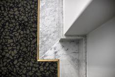 Room flooring - Henrietta Hotel London, new Covent Garden boutique hotel, Dorothee Meilichzon design – Room flooring Detail Architecture, Interior Architecture, Interior Design, Marble Interior, Hotel Carpet, Room Carpet, Terrazzo, Henrietta Hotel, Floor Design