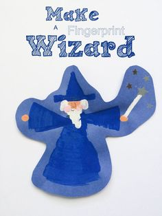 Easy to follow instructions for how to make a fingerprint wizard!  Great craft idea for any wizard lover, kids or adults!