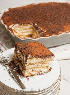 Tiramisu (the only real one!) - Kitchen ♥ Love - Tiramisu (the only real one! Köstliche Desserts, Delicious Desserts, Yummy Food, Baking Recipes, Cake Recipes, Baking Ideas, Tiramisu Dessert, Sweet Bakery, Pie Cake