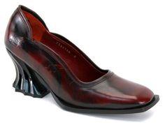 John Fluevog Rococo Lady Ophelia Leather Heel Pump Goth Shoe 11 | eBay