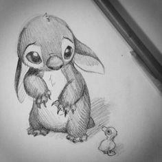 Stitch drawing, OH MY FRIGGIN GAWD!!! So CUTE