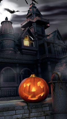 Haunted Skull Halloween iPhone 6 & iPhone 6 Plus Wallpaper