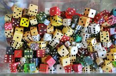 """""""Do kids play with dice anymore?"""" Ha...Yeah right! ☺"""