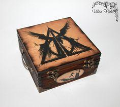 Exklusive Teebox ,Tee, Tea, Teebeutel ,Teekiste , wood,Harry Potter Heiligtümer des Todes
