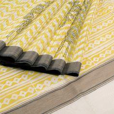 Khoj Hand Block Printed Maheshwari Silk Cotton Saree 10006571 - AVISHYA.COM