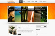 Inspiration is fresh blogger theme with orange background and content slider