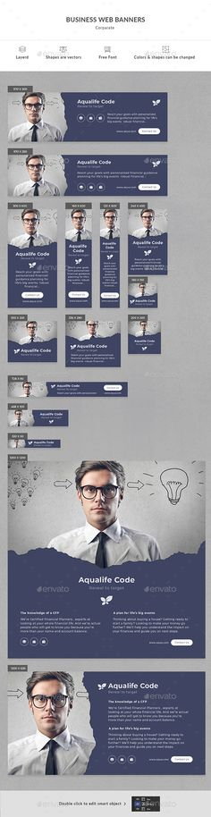 Business Web Banners - #Banners & Ads #Web Elements