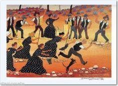 "Howard Steer Signed Beautiful Print ""DressMaker""14x18"""