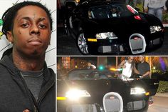Lil' Wayne – Bugatti Veyron, Estimated $2.5 Million Lil' Wayne likes to spend his salary on big flashy cars (and diamond jewels), other than the $2.5 million Bugatti Veyron 16.4 he also owns an Aston Martin V12 Vanquish, Bentley Mulsanne, Cadillac CTS, Rolls Royce Phantom Drophead Coupe and a Campagna T-Rex 14R motorcycle (that costs more than $70,000).