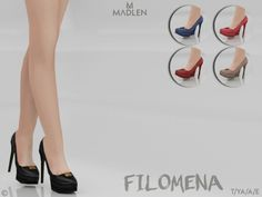 Filomena Shoes for The Sims 4
