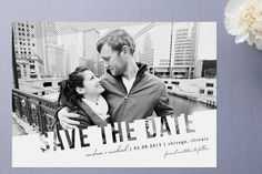 Love this layout/design for save the dates or holiday photo cards