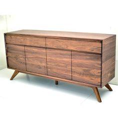 Buffet Kitchen Cabinet in Solid American Walnut Wood Scandinavian Design Australian Made