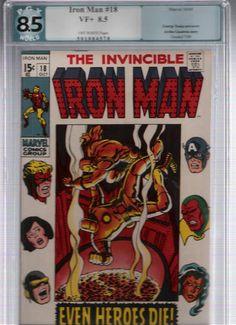 IRON MAN #18 PGX Grade 8.5 Cool Silver Age gem guest-starring Avengers! http://r.ebay.com/ZLdSh2