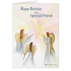 Blessings for a special priest priest birthday card bdat priest priest birthday religious angels card m4hsunfo