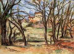 House behind Trees on the Road to Tholonet , by Paul Cezanne