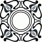Art Nouveau design for the frame