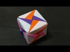 352 Origami 종이접기 (큐브 박스) Cube 색종이접기 摺紙 折纸 оригами 折り紙 اوريغامي - YouTube