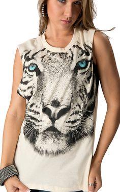 Tiger Print Cutout Tank
