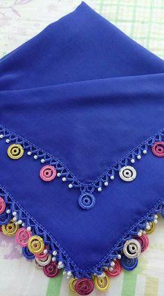 Crochet Lace Edging, Crochet Borders, Crochet Flower Patterns, Crochet Designs, Crochet Flowers, Sewing Crafts, Garland, Tassels, Embroidery