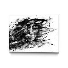 """Grosse Fuge By Agnes Cecile $104.99 Product Details — Ships Ready-To-Hang With Hanging Kit  — Printed On Stretched Canvas  — Finished With 2"""" Deep Black Edge  — Published Exclusively by Eyes on Walls  Materials Canvas Measurements Hangs 2"""" off wall Origin Canada"""