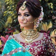 New Ideas Bridal Headpiece Diy Hairstyles Bridal Makeup Looks, Indian Bridal Makeup, Bride Makeup, Bridal Looks, Wedding Makeup, Indian Bridal Hairstyles, Bride Hairstyles, Indian Bridal Photos, Indian Wedding Bride