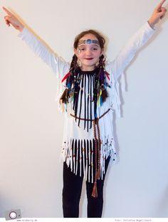 Karnevals DIY: Indianer Kostüm basteln