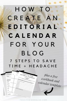 As a blogger, creative, or entrepreneur, there are tons of things to juggle  around on a day-to-day basis. It's time to get creative and plan ahead so  the stress doesn't get overwhelming! Use this tutorial on how to create an  Editorial Calendar for your blog so you can properly plan out your blog  posts ahead of time.