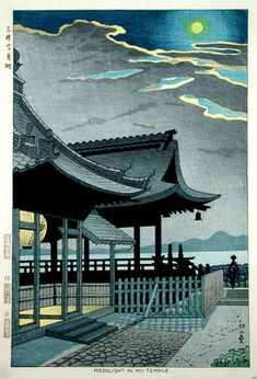 "Takeji Asano, ""Moonlight in Mii Temple"" (1948)."