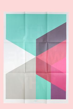Paper with color geometric