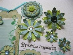 Blue Green Scrapbook Embellishments Tags by mydivineinspiration, $4.99
