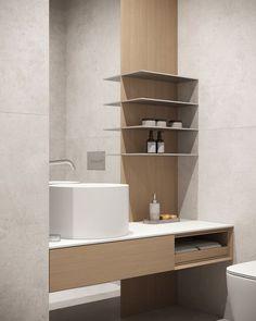 Guest bathroom #guestbathroom #modernbathroom #minimalisticbathroom #ideasforbathroom #minimalism #minimalisticarchitecture #minimalisticinterior #architecture #modernarchitecture #design #minimalisticdesign #bathroom Laundry In Bathroom, Bathroom Design Small, Bathroom Lighting, Minimalism, Mirror, Interior, Furniture, Home Decor, Art