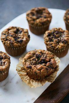 Grain Free Paleo Zucchini Cacao Nib Muffins