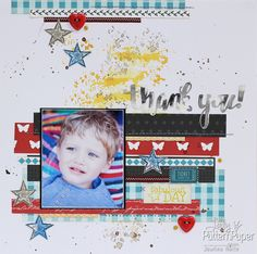 Inspired By Patterned Paper - Thank You Layout