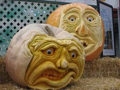 Face Art, Portraits & Mug Shots: Pimping That Pumpkin: A Gallery of the Best Pumpkin Faces