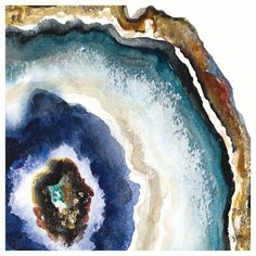 Art Print: Up Close Agate Watercolor II by Patricia Pinto : Painting Inspiration, Art Inspo, Acrylic Pouring Art, Simple Acrylic Paintings, Beginner Painting, Resin Art, Acrylic Resin, Watercolor Paintings, Watercolors