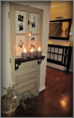 Down to Earth Style: Old Door Foyer Display