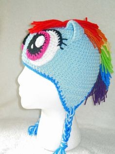 Rainbow dash inspired hat by kitawny on Etsy, $15.00