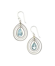 Loving this Blue Topaz & Sterling Tier Teardrop Earrings on #zulily! #zulilyfinds