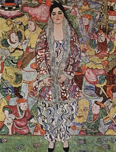 gustave klimt(1862-1918), fredericke maria beer, 1916. oil on canvas, 168 x 130 cm. private collection