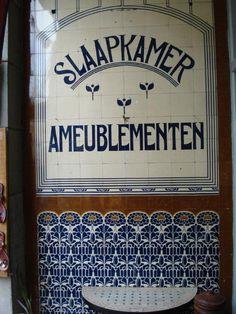 Jugendstil tile tableau, Zoutmanstraat 18 A, The Hague