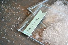 Let it Snow glitter & snow envelopes by citronfaire on Etsy. Oh, these are so cute!!!!